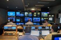 Here's a peek inside the ESPN production truck for the program. (Jonathan Strayhorn)