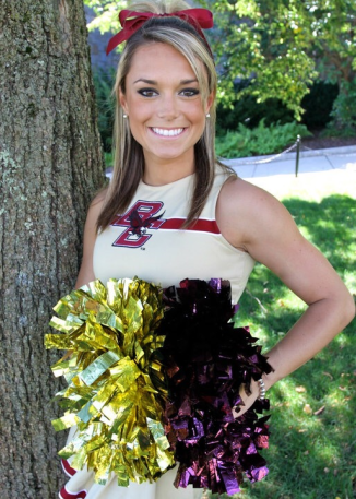 Former BC cheerleader Molly McGrath returns to her stomping grounds Friday. (Photo courtesy Molly McGrath)