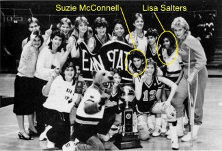 ESPN's Lisa Salters was a guard on Penn State's 1985-86 Atlantic 10 Championship women's basketball team. Suzie McConnell, currently Pitt's head coach, was an All-American guard and U.S. Olympian. (Penn State Athletics)