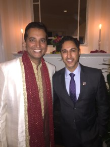 Kevin and actor Maulik Pancholy (Jonathan on 30 Rock). (Courtesy Kevin Negandhi)