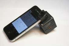The Stuart Scott Fund has helped experiments with a cancer-detection device attaches to a smartphone. It's being tested in Botswana. (Photo courtesy of Dr. Cesar Castro)
