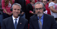 Karch Kiraly (left) with Paul Sunderland called the action during the 2016 NCAA Division I Women's Volleyball Nebraska Regional Finals last week.