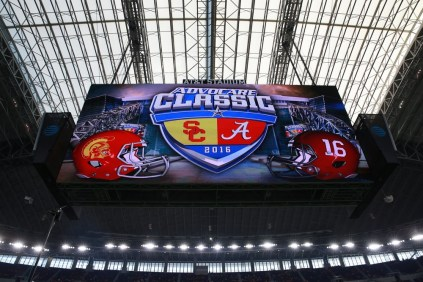 USC verus Alabama in Arlington, Texas. (Allen Kee/ESPN Images)