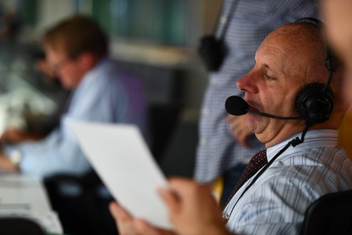 "Sean McDonough will be thinking ""how awesome my father would think it is that his son is behind the MNF microphone, particularly for a Patriots' home game."" (Joe Faraoni/ESPN Images)"