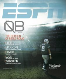 Romo on the cover of the QB Issue of ESPN the Magazine from November 25, 2013.