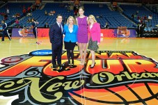 (L-R) Dave O'Brien, Holly Rowe, Rebecca Lobo and Doris Burke during the 2013 Women's Final Four. (Phil Ellsworth/ESPN Images)