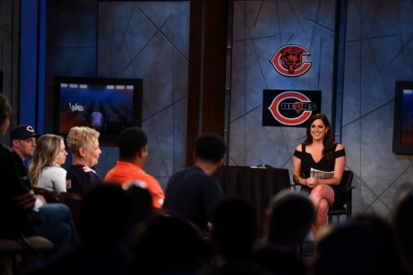 ESPN's Sarah Spain moderates the discussion during We The Fans Season Finale Reunion Show. (Joe Faraoni/ESPN Images)