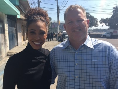 Sage and Tom Engle in Mexico City for Monday Night Football. (Photo courtesy of Sage Steele)