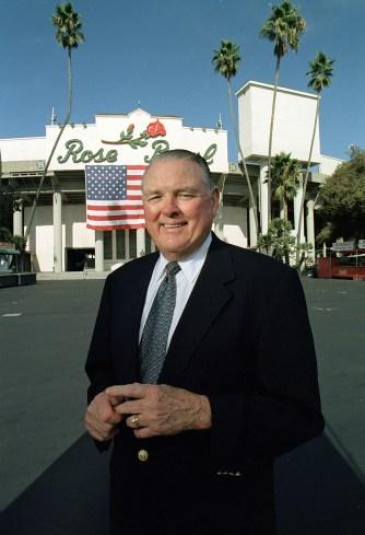 Keith Jackson at the Rose Bowl. (Craig Sjodin/ABC)