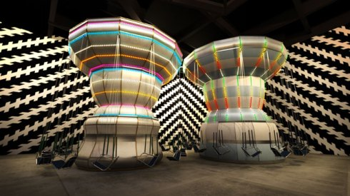 "Carsten Höller per Enel Contemporanea Award 2011, ""Double Carousel with Zöllner Stripes"""
