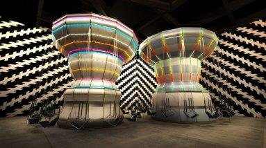 """Carsten Höller per Enel Contemporanea Award 2011, """"Double Carousel with Zöllner Stripes"""""""