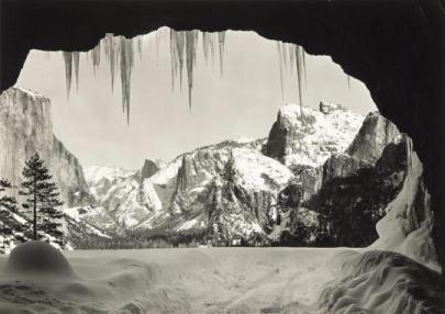 From Wawona Tunnel, Winter, Yosemite, © 2011 The Ansel Adams Publishing Rights Trust. Courtesy Fondazione Fotografia, Modena