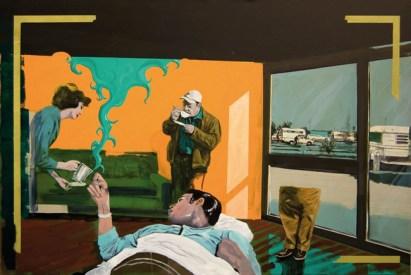 Paolo De Biasi, Bungalow, acrilico su tela, cm 100x150, 2011. courtesy Area B Gallery, Milano