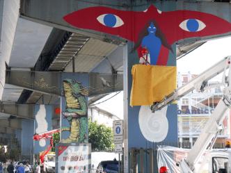 """Dem,Ericailcane, 108 e Bastardilla a Genova: la sopraelevata, il mostro della """"Superba"""", si veste di street-art"""