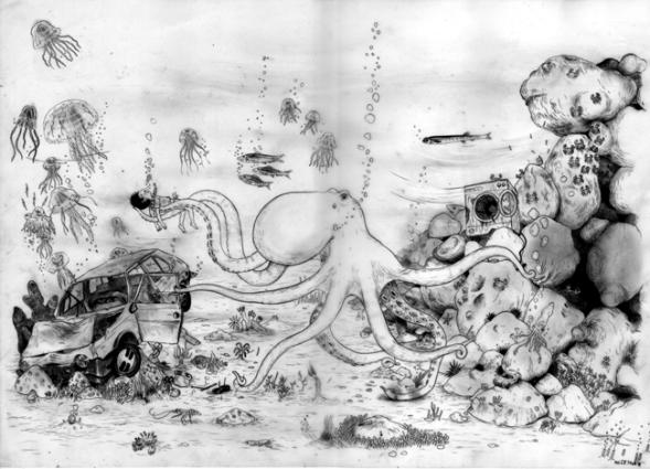 Michelangelo Setola, L'albero delle scimmie   fumetti e disegni