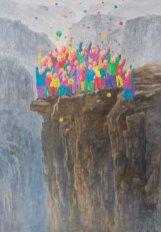 Fang Lijun 2007-2008, 2008 olio su tela/oil on canvas, cm 360x250. Foto: Paolo Robino