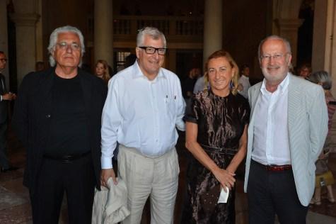 Germano Celant, Patrizio Bertelli, Miuccia Prada, Giorgio Orsoni, courtesy Fondazione Prada, Venezia
