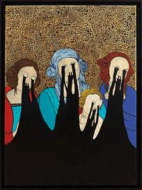 diego knore+108, Madonna con bambino tra santa Rosa e santa Caterina by Perugino