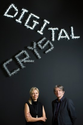 Digital Crystal Swarovski at the Design Museum (Nadja Swarovski and Deyan Sudjic), image courtesy of David Levene
