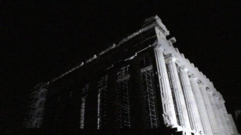 Parthenon Rising, 2010, High Definition Video, 4' 02'' (loop-play). Courtesy: Kalfayan Galleries, Athens - Thessaloniki