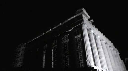 Parthenon Rising, 2010, High Definition Video, 4' 02'' (loop-play). Courtesy: Kalfayan Galleries, Athens - Thessaloniki