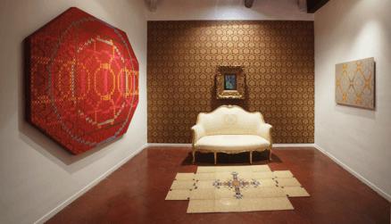 Baroque ambient. Veduta della mostra Vincenzo Marsiglia. Experience da Emmeotto Ling Gallery, Roma.