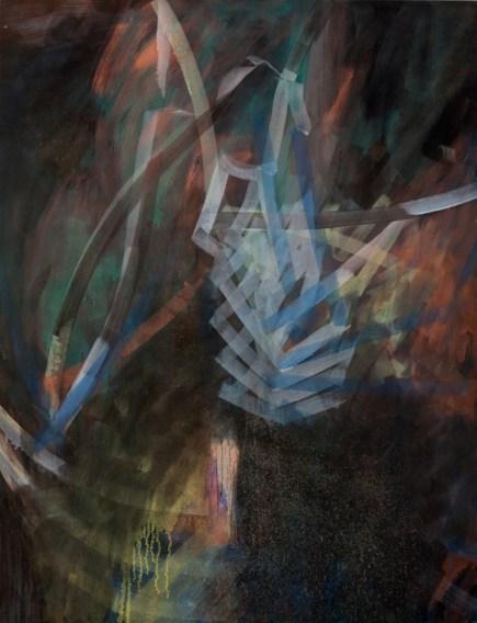 Duration, 2012, olio e spray su tela, cm 155x120, courtesy Galleria Umberto Di Marino, Napoli