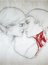 Omar_Galliani_ Nuove anatomie_2003_matita e pigmenti su tavola_cm 251x185