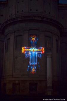 Nicola Evangelisti, Lux Inaccessibilis, veduta dell'installazione site-specific nel chiostro di San Domenico, Bologna gennaio 2013. Foto Barbara De Romedis