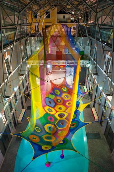 Enel Contemporanea 2013, Toshiko Horiuchi MacAdam. Harmonic Motion / Rete dei draghi, MACRO – Museo d'Arte Contemporanea Roma, Roma Foto Roberto Boccaccino