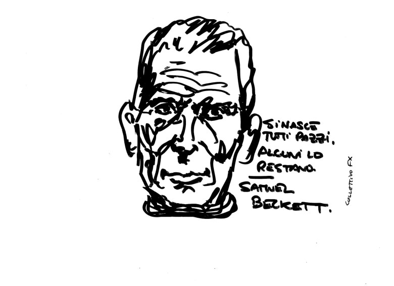 Collettivo FX, sticker, Samuel Beckett