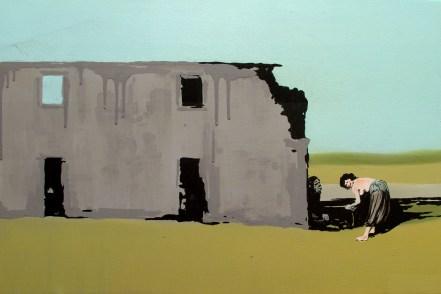 """Laura Giardino, """"Quiet 03"""", 2012, tecnica mista su tela, cm 60x40"""