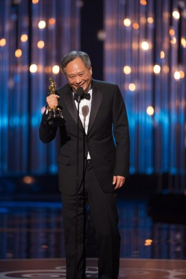 "Ang Lee accepts the Oscar® for achievement in directing for ""Life of Pi"" during the live ABC Telecast from the Dolby® Theatre of The Oscars® in Hollywood, CA, Sunday, February 24, 2013. credit: Michael Yada / ©A.M.P.A.S."