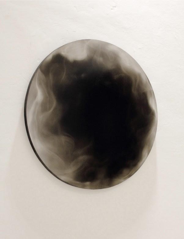 Ettore Frani, Athanor, 2012, olio su tavola, diametro 60 cm. Foto: Paola Feraiorni. Courtesy L'Ariete artecontemporanea