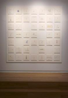Ayumi Kudo, Misurare le cose in-misurabili, 2012, inchiostro e matita colorata su tavola, 21 x 21 cm ciascun elemento