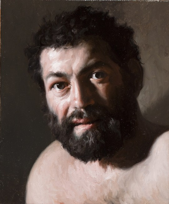 Giovanni Gasparro, studio per San Marco Evangelista, olio su tela, cm 30x25