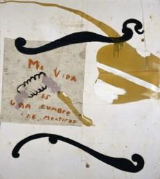 Julian Schnabel, Mi vida es una cumbre de mentiras, 1992, olio su telone, cm 275x244, Collezione privata