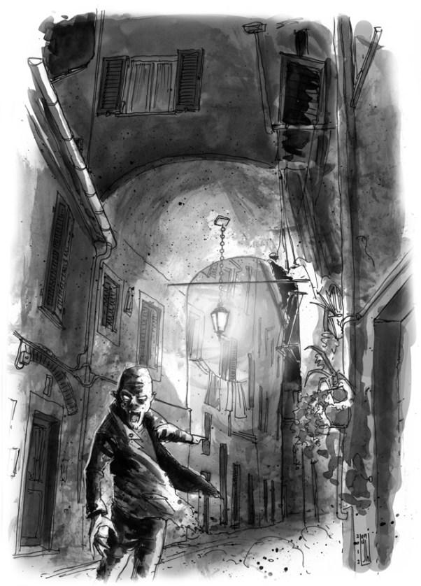 ANDREA LONGHI SENZA TITOLO Acquarello e penna stilografica su carta, cm 21x29,7