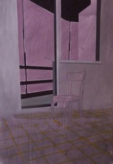 Linda Carrara, Interno_01, 2012, acrilico su tela, 150x100cm