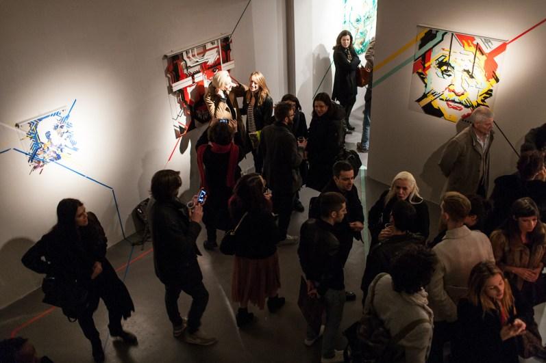 No Curves, Top of the lines, veduta della mostra, Avantgarden Gallery, Milano. Foto: Marco Montanari