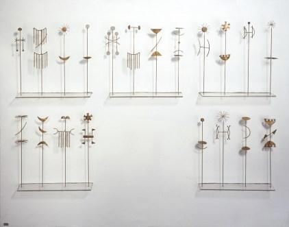 Fausto Melotti, Canone orientale, 1985, ottone dorato, cm 101.5x130x20, Archivio Melotti, Milano © Archivio Melotti, Milano