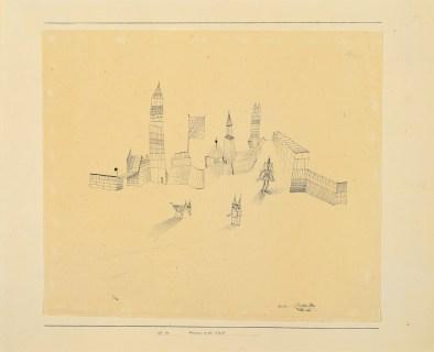 Paul Klee, Masken in der Stadt, 1927, penna su carta su cartone, cm 37x43, Collezione privata