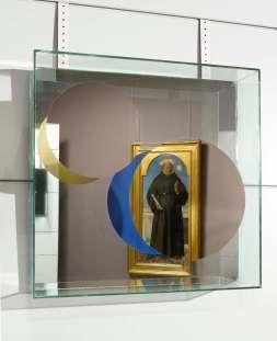 Chiara Dynys, Look at You (1), 2013, vetro, specchio, argento e colore, 60x60x18 cm Courtesy Spazioborgogno, Milano Foto Paolo Vandrash