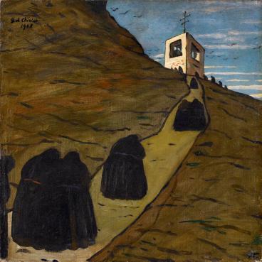Giorgio De Chirico, Salita al convento, 1908, olio su tela, cm 50x50, Musei Civici d'Arte e Storia, Brescia Foto Archivio Fotografico Musei Civici d'Arte e Storia, Brescia