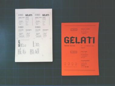 GELATI fanzine festival 2013. Flyer e locandina
