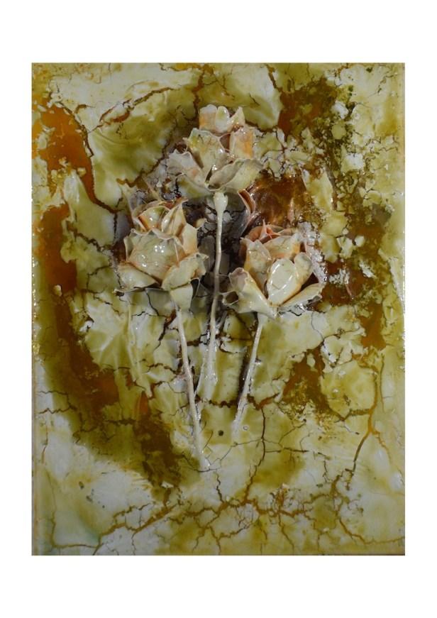 Andrea Bianconi, IGLOO 55, 2013, tecnica mista su tela, 30x40 cm - Courtesy l'artista e La Giarina