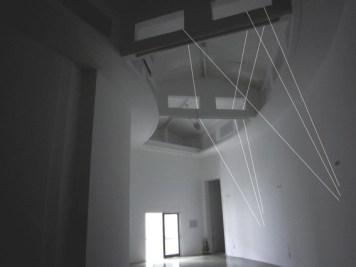Mimmo Roselli, Filando il mondo, filo di cotone, sezione cm 1, colore bianco, Padiglione Venezia