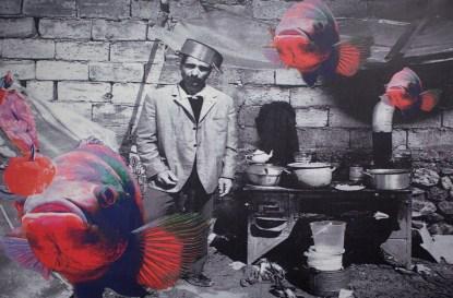 Vettor Pisani, Pesci Rossi, Artista dal sistema sistemato (2000). Foto: Federico Losito