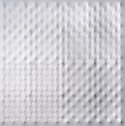 Enrico Castellani, Superficie bianca, 2001, acrilico su tela estroflessa, cm 180x180 Courtesy Galerie Tornabuoni Art Paris