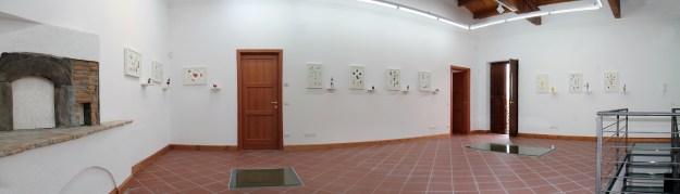 Angelo Maisto, Analogie, veduta panoramica della mostra a Casa Turese